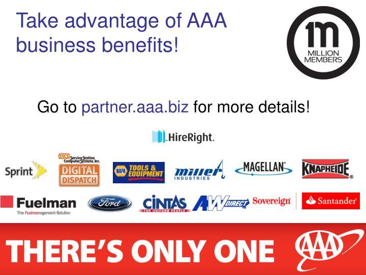 Take advantage of AAA