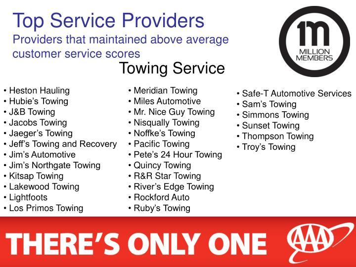 Top Service Providers