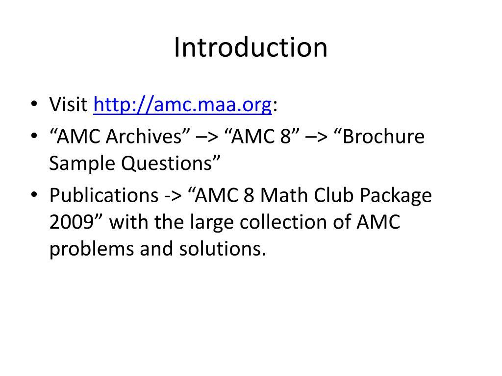 PPT - AMC 8 Preparation PowerPoint Presentation - ID:6572050