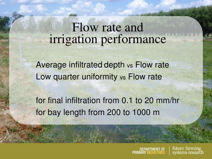 Flow rate and