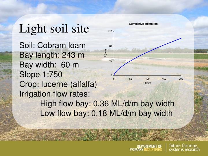 Light soil site