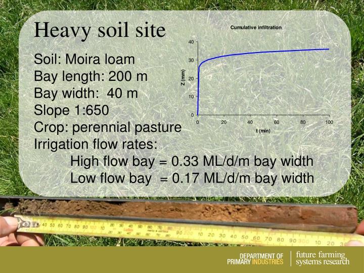 Heavy soil site