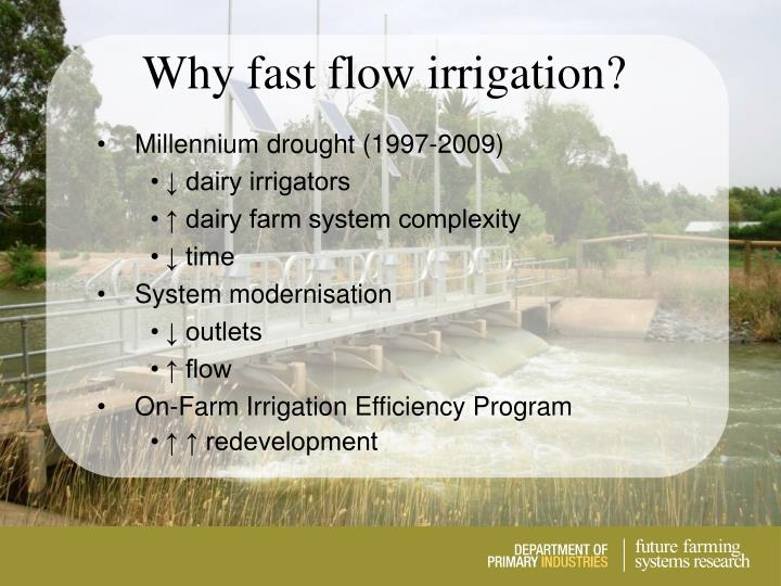 Why fast flow irrigation