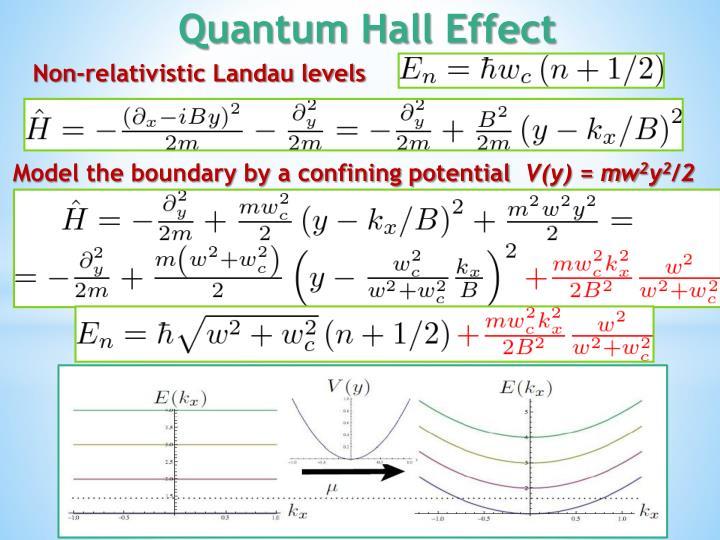 Non-relativistic Landau levels
