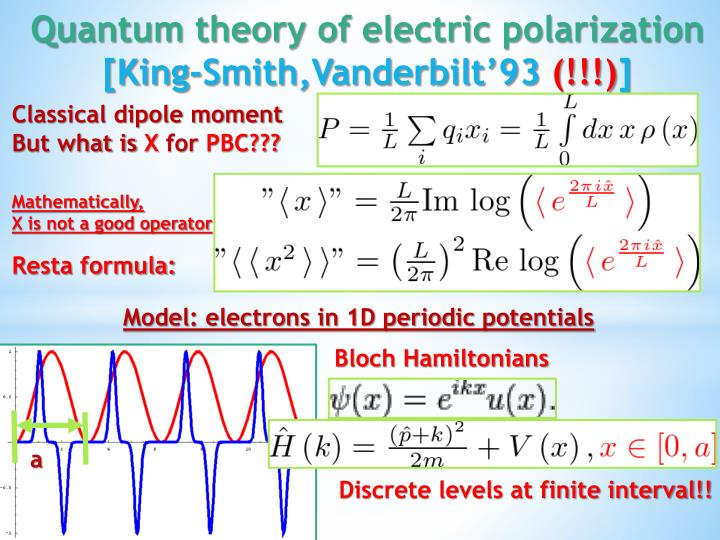 Classical dipole moment