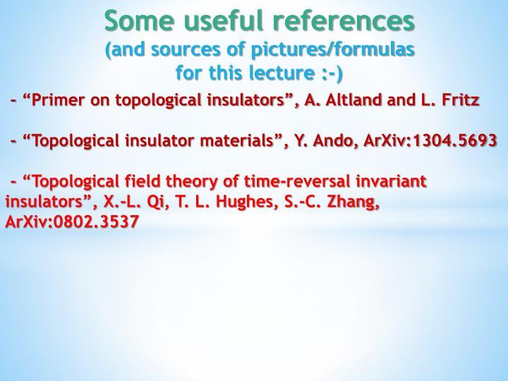 "- ""Primer on topological insulators"", A."