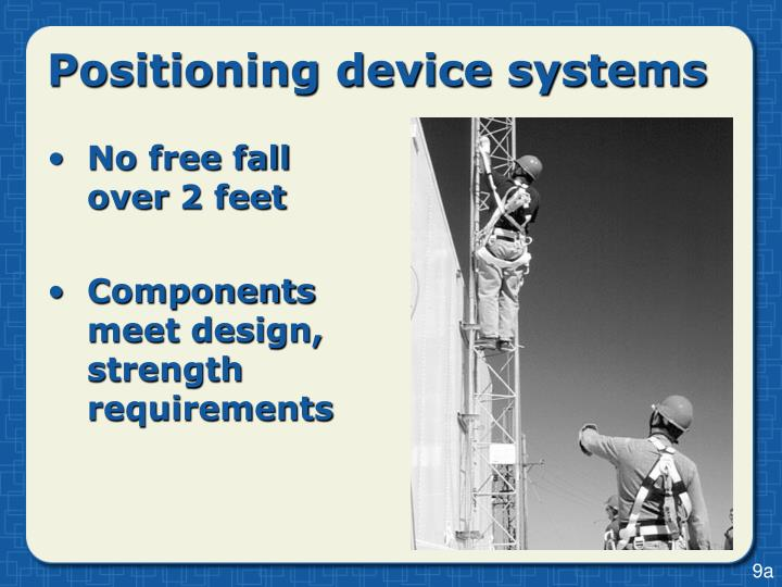 Positioning device systems