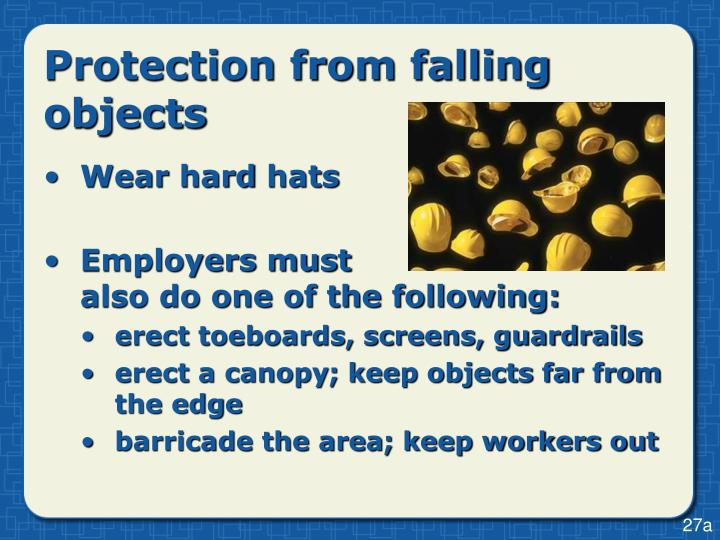 Protection from falling objects