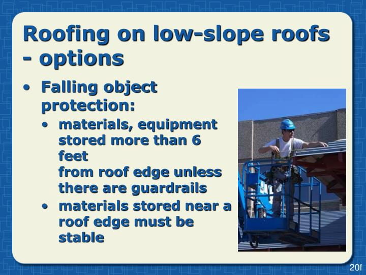 Roofing on low-slope roofs - options