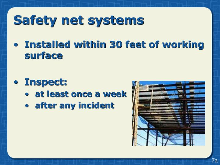 Safety net systems