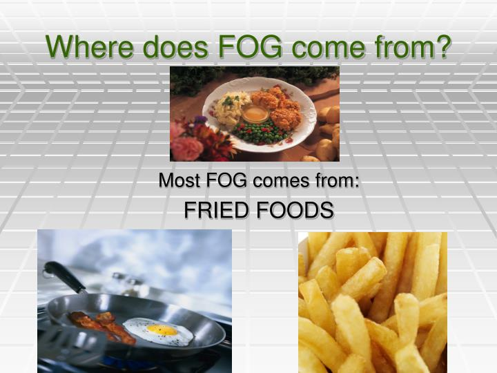 Where does fog come from