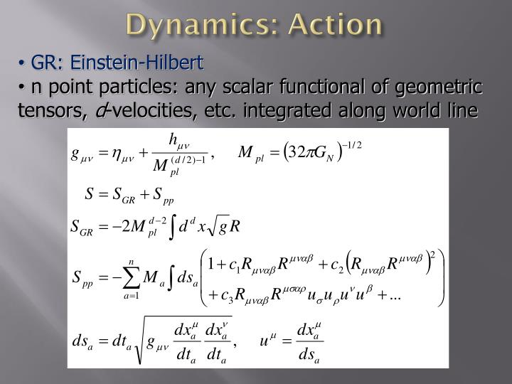 Dynamics: Action