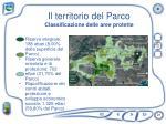 il territorio del parco classificazione delle aree protette