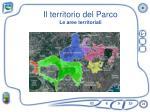 il territorio del parco le aree territoriali