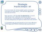 strategia proposta strategica sit