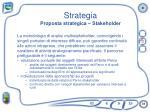 strategia proposta strategica stakeholder