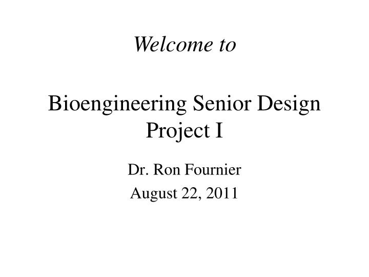 bioengineering senior design project i n.