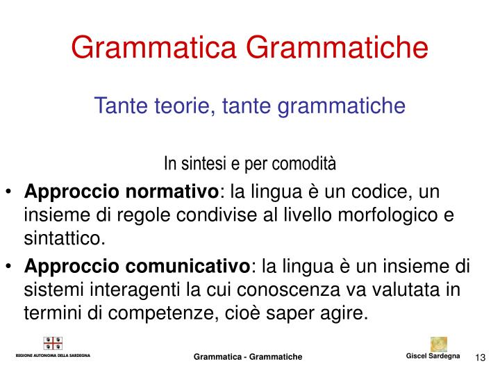 Grammatica Grammatiche