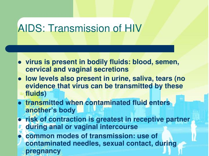 AIDS: Transmission of HIV
