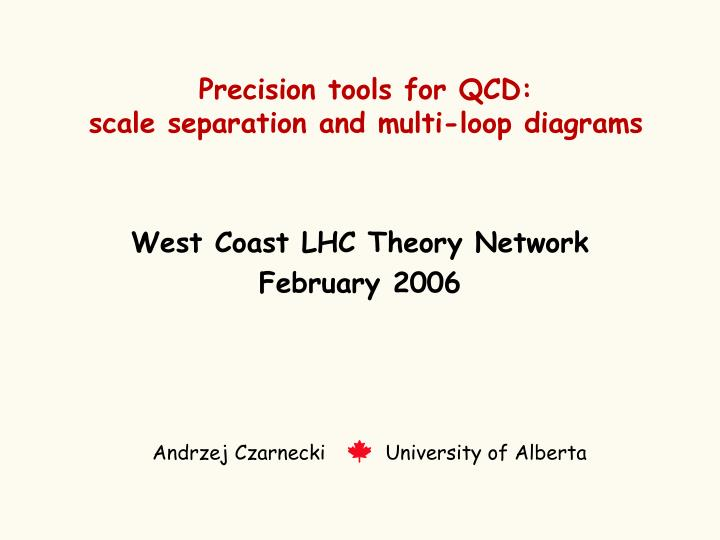 precision tools for qcd scale separation and multi loop diagrams n.