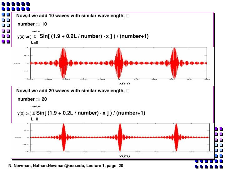 Now,if we add 10 waves with similar wavelength,