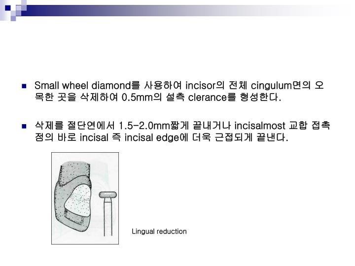 Small wheel diamond