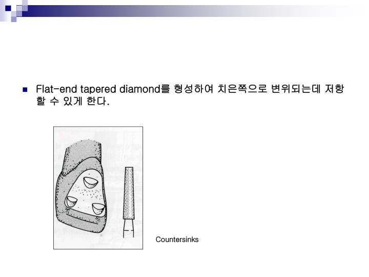 Flat-end tapered diamond