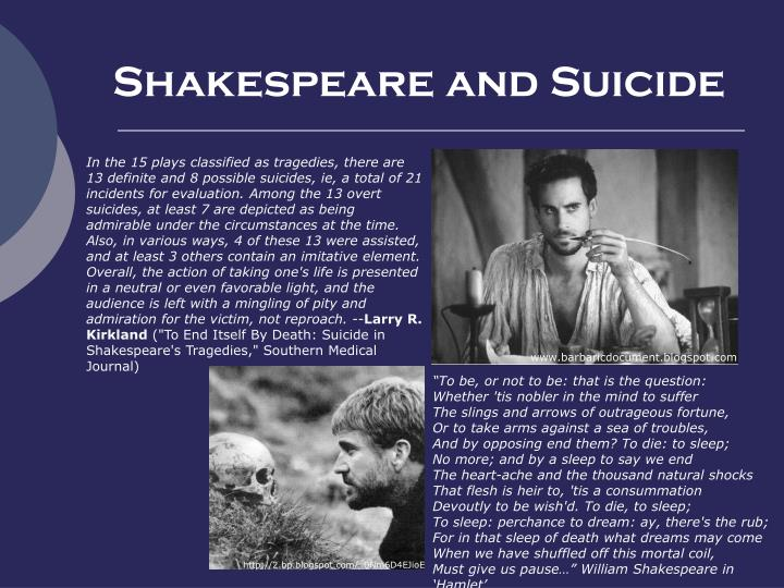 Shakespeare and suicide
