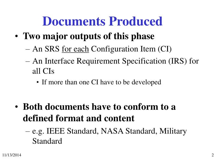 Documents produced