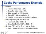 cache performance example
