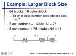 example larger block size