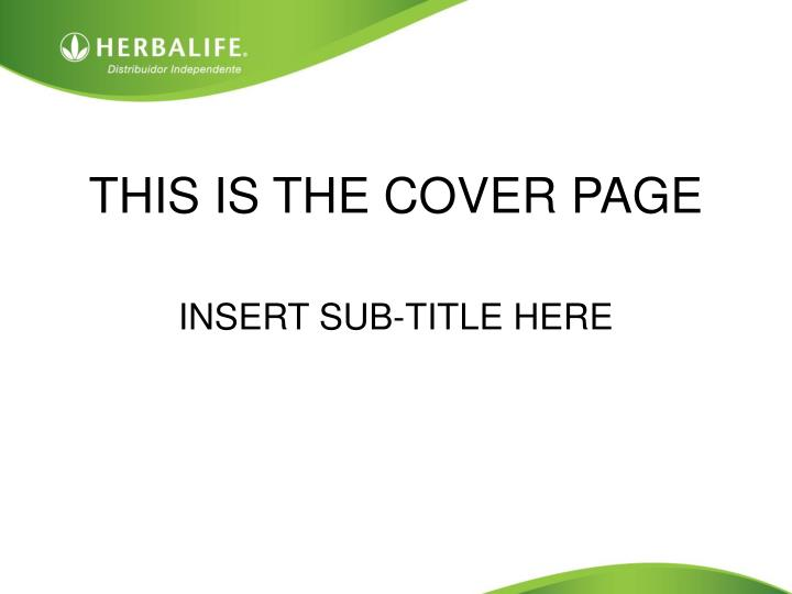 This is the cover page