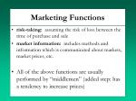 marketing functions1