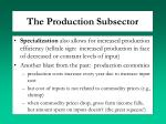 the production subsector1