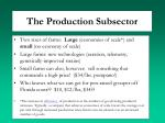 the production subsector2