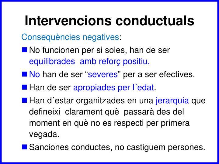 Intervencions conductuals