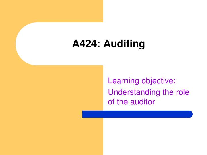 a424 auditing