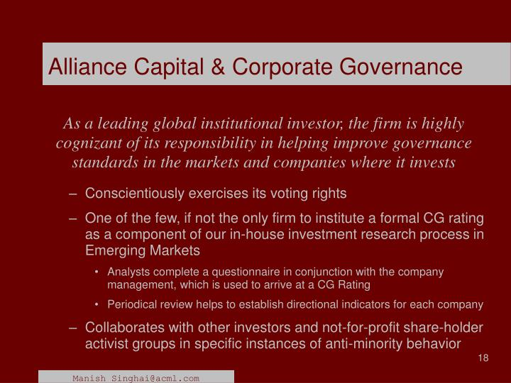 corporate governance disclosures in emerging capital markets Corporate governance practices can contribute to capital market development in eurasia 5 this paper is intended to provide a first background to the initial meeting of the group, by.