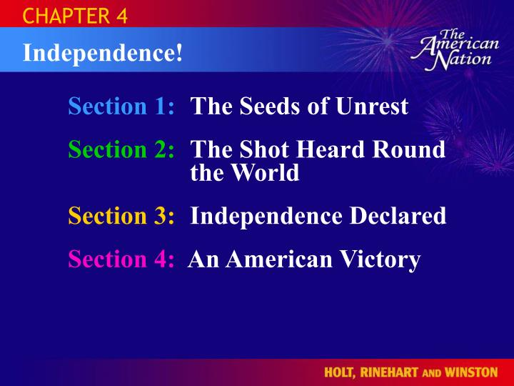 the seeds of american independence essay