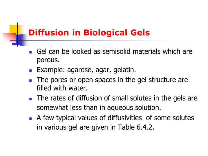 Diffusion in Biological Gels