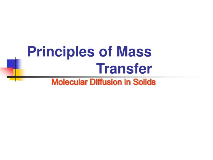 Principles of Mass