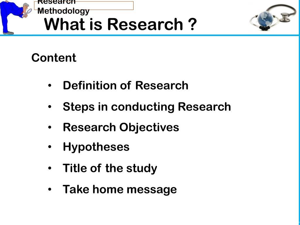 Define methodology in research