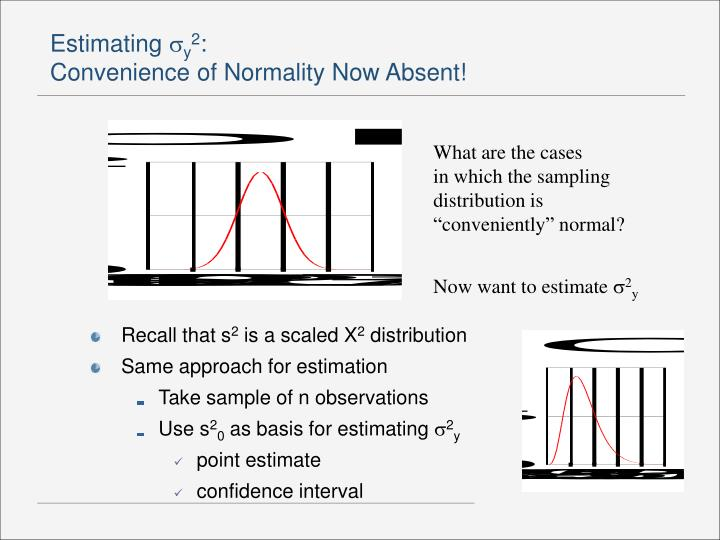 Estimating y 2 convenience of normality now absent