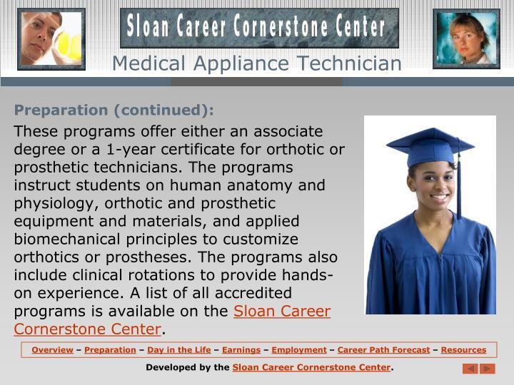 Medical Appliance Technician