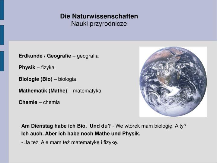 Die Naturwissenschaften
