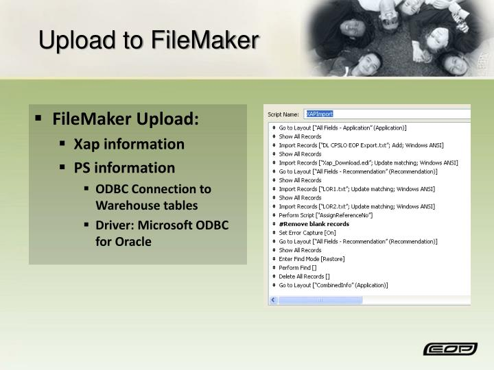 Upload to FileMaker