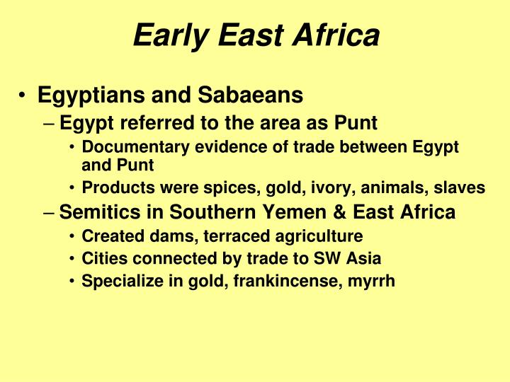 Early East Africa