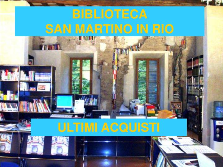 biblioteca san martino in rio n.