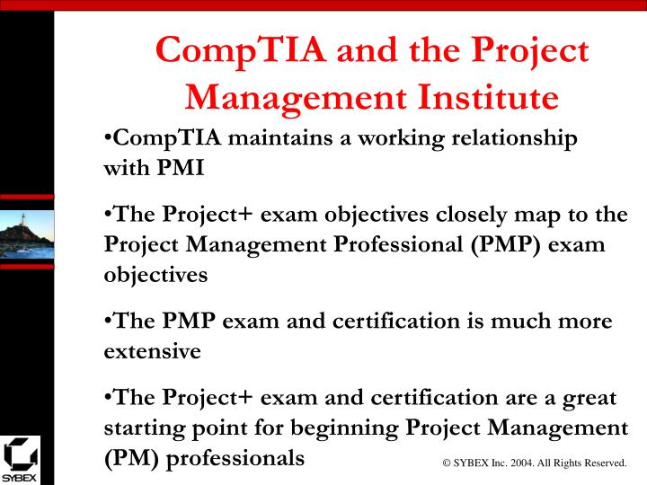 CompTIA and the Project Management Institute