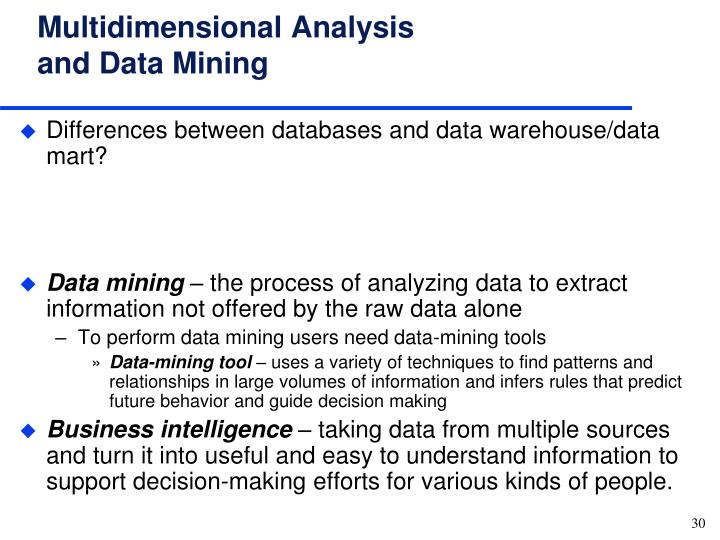 difference between data warehousing and data mining information technology essay Data mining vs data warehousing the process of data mining refers to a branch of computer science that deals with the extraction of patterns from large data.